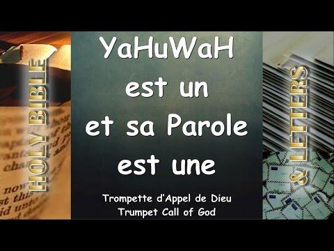 YaHuWaH est un et sa Parole est une ❤️ TROMPETTE D'APPEL DE DIEU