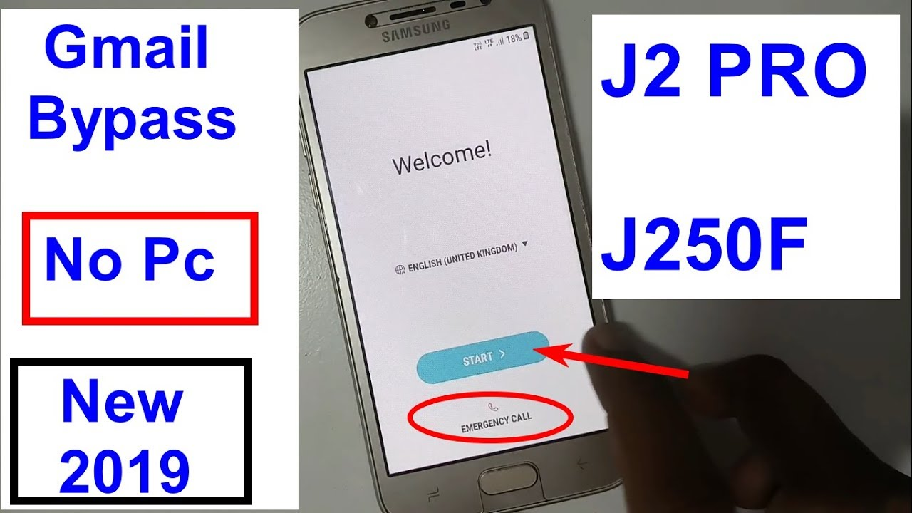 Samsung Galaxy J2 Pro SM J250F Gmail Bypass And Frp Reset New Trick