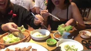 How to eat Samgyeopsal | Vlog No. 1