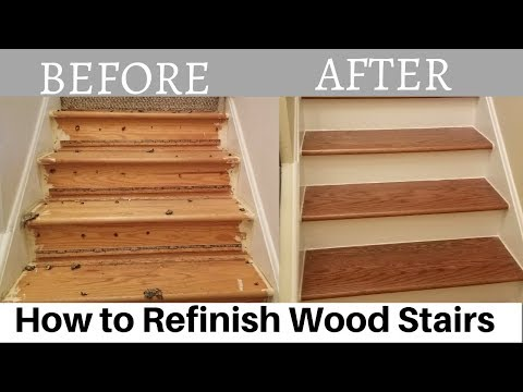 How To Refinish Wood Stairs You