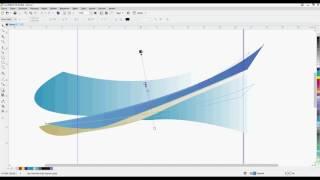 Corel Draw renk geçişi gölge ve transparan kullanımıyla sayfa oluşturma