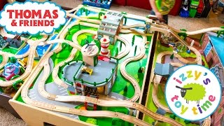 100,000 SUBS! Thomas and Friends THREE TABLE TRACK! Thomas Train w Trackmaster | Toy Trains for Kids