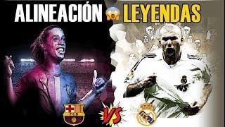 BRUTAL 11 LEYENDAS Barça VS Real Madrid : Puesto por puesto. Once conjunto y ... ¿quién ganaría?