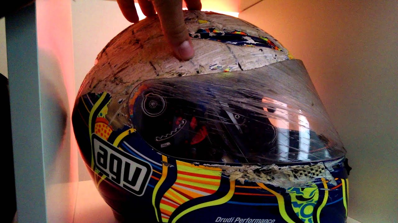 Agv Gp Tech Helmet After Crash Which Save The Life Youtube