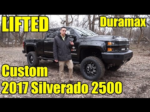 LIFTED 2017 Silverado 2500 Duramax!  Our first '17 with SCA Performance's Black Widow Package!