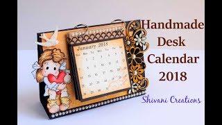 How to make Desk Calendar/ Handmade Calendar 2018/ Quilled Desk Calendar for new Year/DIY Calendar