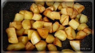 Как пожарить крупный картофель на гарнир