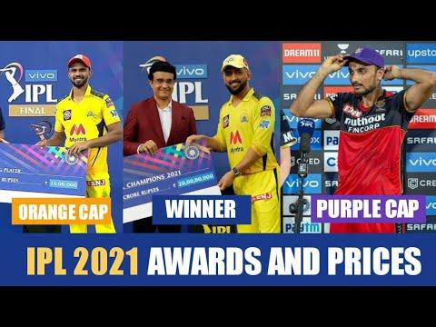 IPL 2021 award ceremony all awards list   purple cap, orange cap, most sixes, emerging player etc.