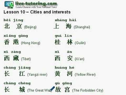 Learn Chinese Mandarin Lesson 10 - Cities and places - YouTube
