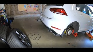 homepage tile video photo for 2018 VW GTI SE Ep.338: Customizing OEM Splash Guards to Fit TCR Rear Valance