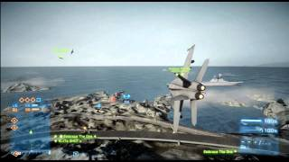 Battlefield 3 Jet Fight Gameplay - F/A 18 Super Hornet Jet Fighter