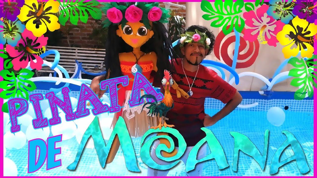 ¡¡¡ REALIZO  Una piñata en el AGUA !!!  ¡¡ INCREÍBLE !! ( MOANA ) EDREI POP