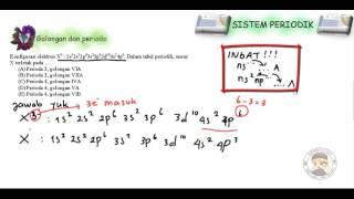 (Sistem Periodik) Contoh Soal golongan dan periode 1