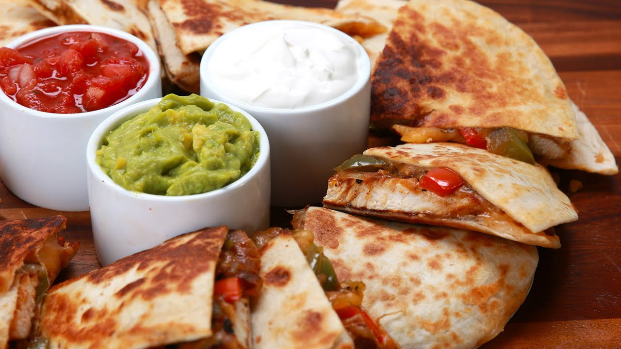 Chicken Fajita Quesadillas - YouTube