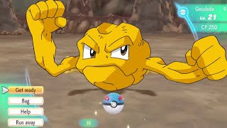 Catching SHINY GEODUDE in Let's Go Pikachu - THE FEELS