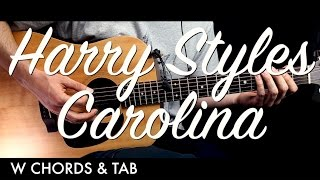Harry Styles - Carolina Guitar Tutorial Lesson w Chords & TAB / Guitar Cover How to Play Easy Videos