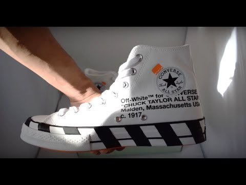 bcf9113cf757 Off White x Converse Chuck 70 Unboxing - YouTube