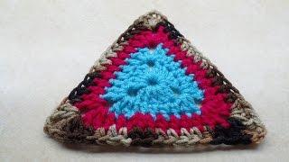 CROCHET How To #Crochet Granny Triangle EASY Crochet #TUTORIAL #208 LEARN CROCHET DYI
