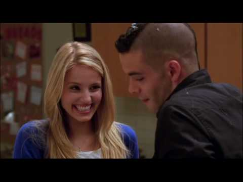 Glee - Puck and Quinn baking scene 1x09