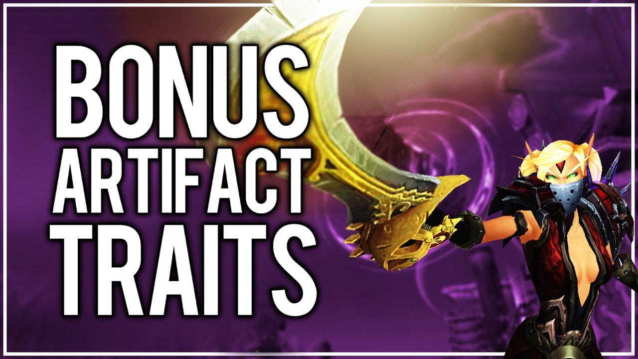 bonus trait artifact weapon