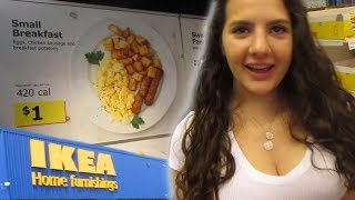 Eating $1 Breakfast at IKEA! (IKEA VLOG)