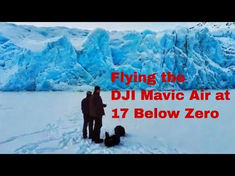 Flying the DJI Mavic Air in 17 Below Zero at Portage Glacier