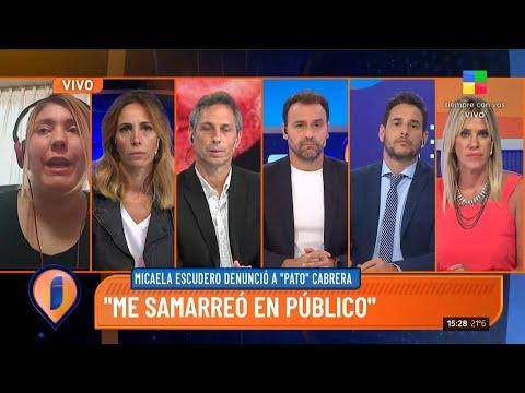 """Micaela Escudero denunció a """"Pato"""" Cabrera por violencia"""