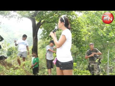 Ms. Trina Firmalo during the Tree Planting in Tugis, Odiongan last June 13, 2014