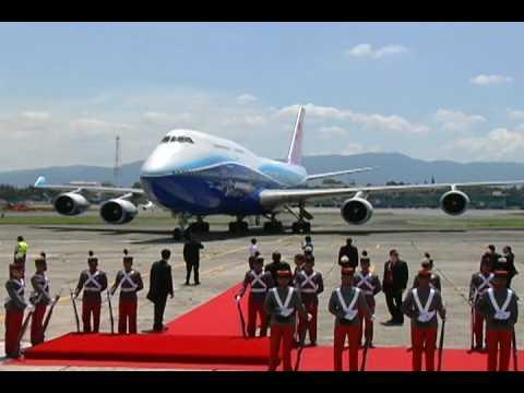 747-400 China Airlines at La Aurora Intl Airport (GUA