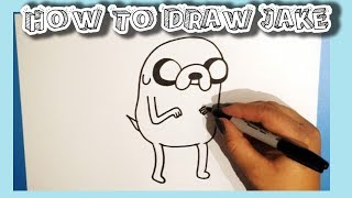How To Draw Jake From Adventure Time!