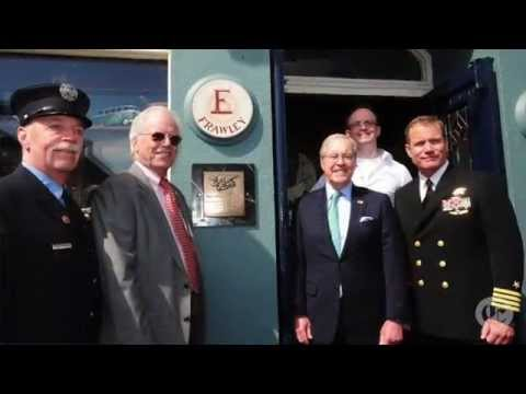 The unveiling of a plaque in memory of LT. Michael Murphy