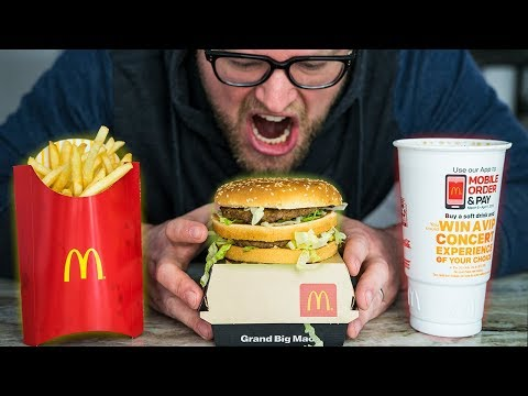 Challenging the FASTEST Grand Mac Meal Ever Eaten (Matt Stonie's under 1 Minute record)