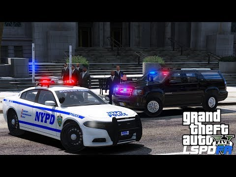 GTA 5 LSPDFR #557 NYPD Highway Patrol & Secret Service Escorting VIP Motorcade