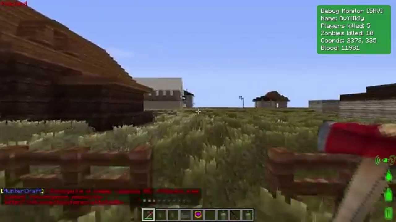 Выживание в Dayz(Hunter craft) #1 - YouTube