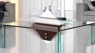 Modern Contemporary Glass And Wooden Coffee Table And Tables.
