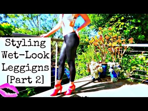 How to Style WET-Look Leggings PART 2 | Pink Wednesdays