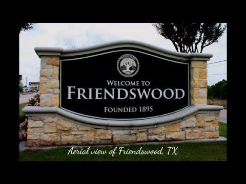 Birds eye view of beautiful Friendswood, TX