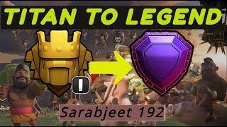 Push To Legend League! - Hitting Legends Live! - Clash of Clans! - StoneBreaker Sarabjeet