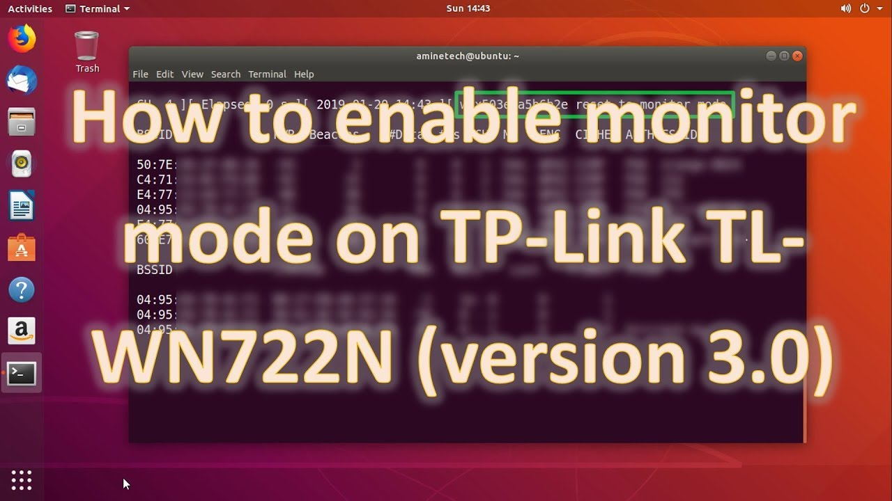 How To Enable Monitor Mode on TP-Link TL-WN722N Version 3 0 (100% Working)