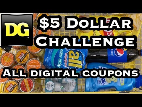 Dollar General | $5 Challenge! | ALL DIGITAL Coupon Deals You Can Do Now + Clearance Event Preview