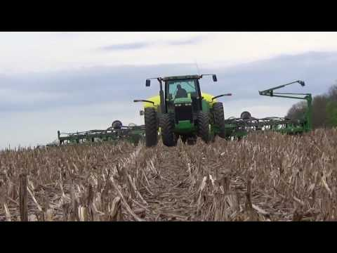 Planting Soybeans in Darke County Ohio - April 2017