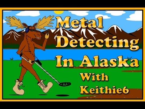 Metal detecting on the koyukuk river north of the Arctic circle Alaska on a motorcycle