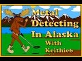 Metal detecting on the koyukuk river north of the Arctic circle Alaska on a motorcycle