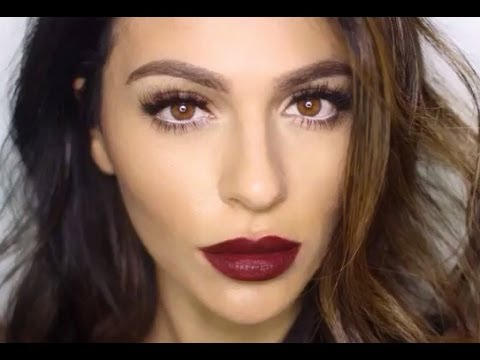 Dark Lipstick Makeup Tutorial | Lipstick Tutorial | Teni Panosian