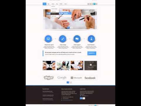 PSD Website Template Free