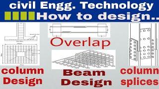 Design of column | Design of Beam | Design of overlap | Design of column splices | civil engg.
