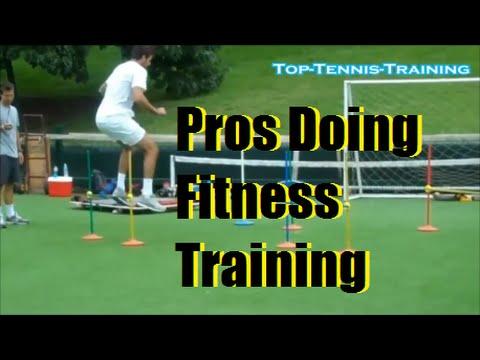 Tennis Drills   Pros Fitness Training   Federer, Haas, Murray, Del Potro, Verdasco