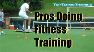 Tennis Drills | Pros Fitness Training | Federer, Haas, Murray, Del Potro, Verdasco