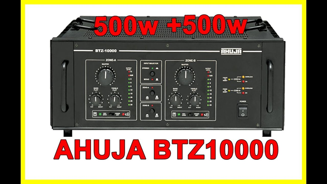 Ahuja 1000w Amplifier (BTZ10000)