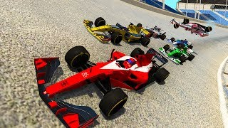 NASCAR AND F1 RACING IN BEAMNG?! - BeamNG Drive Thunder Valley Race Track Gameplay and Crashes